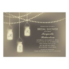 See Morerustic vintage mason jar lights bridal shower custom invitationin each seller & make purchase online for cheap. Choose the best price and best promotion as you thing Secure Checkout you can trust Buy best