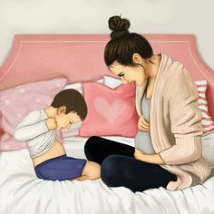 Mom and baby drawing anime 23 Ideas Boy Photography Poses, Newborn Baby Photography, Mommy And Son, Mom And Baby, Cute Baby Boy Names, Sarra Art, Boy And Girl Cartoon, Hair Illustration, Baby Girl Nursery Themes