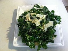 Tuscan Kale Salad - I've wanted to try this for a while.  Wish i didn't wait so long.  It's delicious.  Dinner party worthy.  Next time, i wouldn't chop the kale so small.  I also omitted the garlic as i had this for lunch.  I made the dressing in the morning, massaged it onto the kale and let it sit in the fridge for a few hours.  May become my fav lunch.