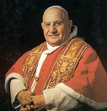 Blessed John XXIII  Papacy began	28 October 1958  Papacy ended	3 June 1963  Predecessor	Pius XII  Successor	Paul VI  Orders  Ordination	10 August 1904  by Giuseppe Ceppetelli  Consecration	19 March 1925  by Giovanni Tacci Porcelli  Created Cardinal	12 January 1953  Personal details  Birth name	Angelo Giuseppe Roncalli  Born	25 November 1881  Sotto il Monte, Kingdom of Italy  Died	3 June 1963 (aged 81)  Vatican City  Motto	Obedientia et Pax (Obedience and Peace)
