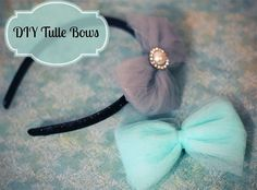 DIY your photo charms, 100% compatible with Pandora bracelets. Make your gifts special. DIY Tulle Bows - Simple, cheap, and gorgeous! I'm so gonna rock headbands while my hair starts growing back