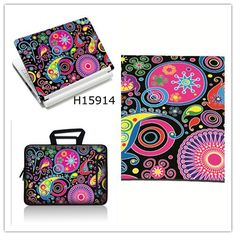 Creative combination set laptop sleeve skin mouse pad kit 11 12 13 14 15inch For Apple Dell Asus HP Lenovo Acer etc