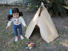 Tepee | 39 American Girl Doll DIYs That Won't Break The Bank