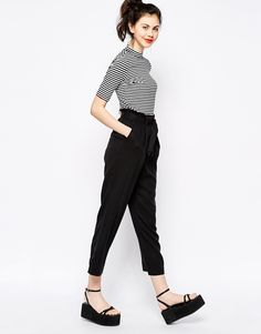 Image 1 of Monki Wide Legged Trousers