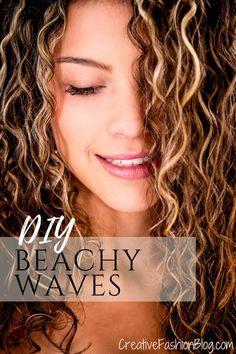 DIY Sea Salt Spray for Beachy Waves DIY Beach Waves Texturizing Spray Recipe. This post also covers Beachy Waves Spray, Beach Spray, Beachy Hair, Beach Wave Hair, Diy Sea Salt Spray, Sea Salt Spray For Hair, Boho Hairstyles, Straight Hairstyles, Black Hairstyles