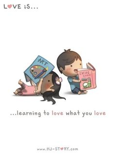 HJ Story- Learning what you love Love is... pinning this, http://www.shivohamyoga.nl/ #loveis #love #hj-story