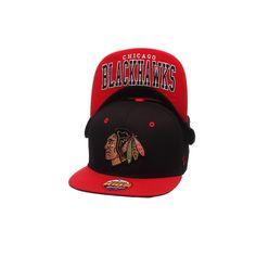 Youth Zephyr Chicago Blackhawks Undercard Snapback Cap, Boy's, Black