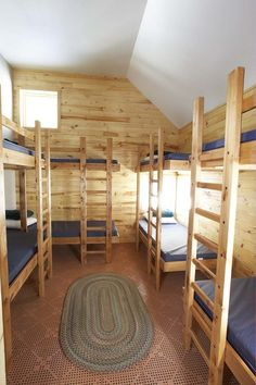 Bunk houses come in a variety of capacities from 2 beds to twelve beds