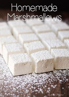 Homemade Marshmallows homemade marshmallows are easy to make and taste amazing. This recipe is super easy to make Homemade Marshmallows homemade marshmallows are easy to make and taste amazing. This recipe is super easy to make Marshmallow Desserts, Recipes With Marshmallows, Homemade Marshmallows, Homemade Candies, Gelatin Free Marshmallows, Vegetarian Marshmallows, How To Make Marshmallows, Marshmallow Recipe Without Gelatin, Marshmallow Recipe No Corn Syrup