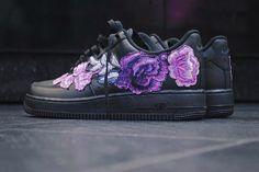 Nike Air Force 1 Purple Flowerbomb Custom