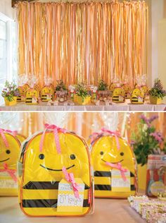 """For her daughter Maya's first birthday,Laila Plant ofOne Inspired Partywas inspired by a show she used to watch titled,""""la abejita Maya"""" which translat"""