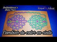 (145) Cambiar de color en cinta - Bolillotutorial - Bolso Ruso 3 - Raquel M.Adsuar Bolillotuber - YouTube