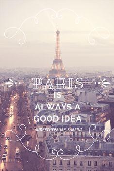 """Paris is always a good idea"" - Aubrey Hepburn in Sabrina via oregon girl around the world Paris Photography, Travel Photography, Panthères Roses, Paris Quotes, Paris Travel Tips, Paris Love, France Travel, Wanderlust Travel, City Lights"