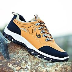Men's Trainers Athletic Shoes Casual Daily Walking Shoes Mesh Black / White White / Green Black Spring & Summer Fall & Winter 2021 - US $36.74 Hiking Sneakers, Best Sneakers, Casual Sneakers, Casual Shoes, Mens Trainers, Driving Shoes, Running Shoes, Trend Board, Sneakers For Plantar Fasciitis