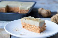 Raw carrotcake met cashewcreme