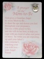 A Prayer for the Mom-to-Be Pin Set  $6.50  This poem and #AngelPin set is the perfect gift for an #ExpectantMom. You have your choice of a bright gold or silver angel pin with a pearl or crystal head. http://www.angeldesignsbydenise.com/category.php?ct=0&id=92 #BabyGift