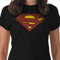 """""""Superman S Sheild Tee Shirts: Ladies Petite T-Shirt.  Tailored for women by Bella, this Tee will quickly become your favorite. Made from 5 oz, 100% super-soft cotton, baby jersey knit with a custom contoured fit. Has cover-stitched ¾"""" bottom hem and sleeve openings. """""""