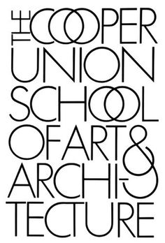 The Cooper Union School Of Art & Architecture | Typography Design
