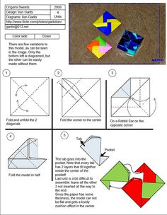 Origami Sweets Diagram by garibi ilan, via Flickr