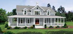 Wrap around porch, open floor plan