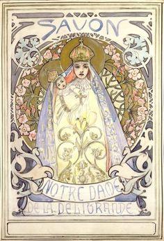 ALFONS MARIA MUCHA. Study for Savon Notre Dame, 1896.