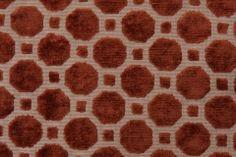 Robert Allen :: Robert Allen Velvet Geo Upholstery Fabric in Copper $31.95 per yard - Fabric Guru.com: Fabric, Discount Fabric, Upholstery Fabric, Drapery Fabric, Fabric Remnants, wholesale fabric, fabrics, fabricguru, fabricguru.com, Waverly, P. Kaufmann, Schumacher, Robert Allen, Bloomcraft, Laura Ashley, Kravet, Greeff
