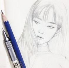#dessin #visage #femme #crayon #jolie