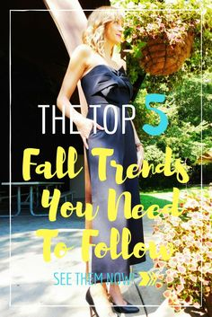 September is upon us which means your wardrobe likely needs to be tweaked a bit. I've gathered up the 5 top fall trends you need to add to your wardrobe!