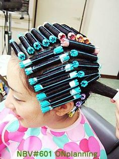 pretty in blue and pink Permed Hairstyles, Modern Hairstyles, Asian Perm, Medium Hair Styles, Curly Hair Styles, Different Types Of Curls, Getting A Perm, Hair Perms, Really Long Hair