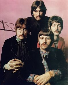 Beatles with mustache