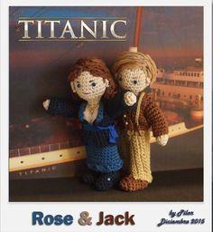 #amigurumi #titanic Rose, Jack