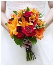 pink and yellow gerbera daisies with some orange ...pretty colors