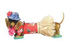 Hot Diggity Dog Hawaiian Grass Skirt Doxie
