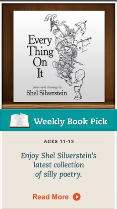 """""""Every Thing On It,"""" by Shel Silverstein, is a recent collection Silverstein's family released for publication. Click for details. #kidsbooks"""