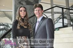Suymara Barreto (designer de moda) com Johannes Bayer (gerente geral do Meliá Jardim Europa).