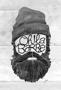 Oh! La barbe. by Janko Janko, via Behance