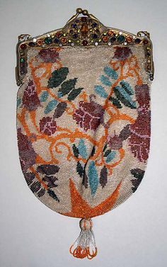 beaded evening purse, ca 1926-1927, MMA collection