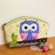 DIY Owl Pencil Case/Makeup Bag Kit Includes Pattern and Materials. $20