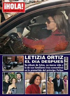 Letizia na capa da Revista Hola.
