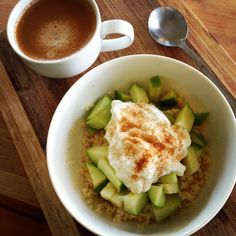 This @Michelle Bridges Apple Couscous with Cinnamon & Yoghurt is rather delicious!