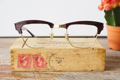 Hey, I found this really awesome Etsy listing at https://www.etsy.com/listing/494165787/vintage-shuron-rondon-1950s-eyeglasses