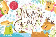 30% OFF. Merry Christmas set. By Lesya Skripak