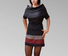 Cowl Tops femme tunique robe multicolorie en coton jersey