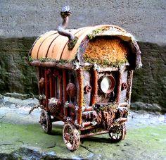 fairy elf gypsy wagon.