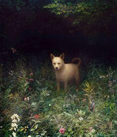 Aron Wiesenfeld, Dog,   oil on canvas, 2007.