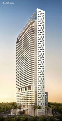 Torre en Miami con estacionamiento vertical y apartamentos