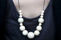 halskæde-diy-træ perler-wood beads