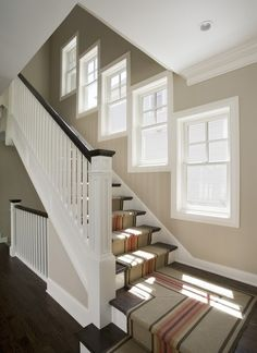 Terrific Stair Runner Width Design: The Stair Runner Width Is Woodard Weave With Excellent Five White Windows ~ jsdpn.com Stairs Inspiration