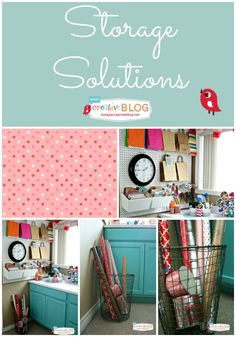 Stylish Storage Solutions for your Craft Room |  Organizing your craft room. Peg Board storage, cabinet storage and more. Click the photo for more details.