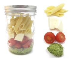 Love this idea for quick lunches...they can be made days ahead of time...works with salads, too!